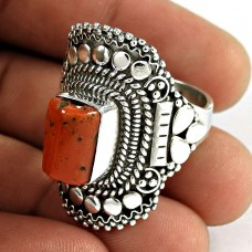 Great! 925 Silver Coral Ring