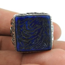 Daily Wear 925 Sterling Silver Lapis, Inlay Gemstone Ring Jewellery