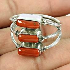 925 Sterling Silver Jewellery Rare Coral Gemstone Ring Al por mayor