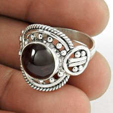 Royal!! 925 Sterling Silver Garnet Ring
