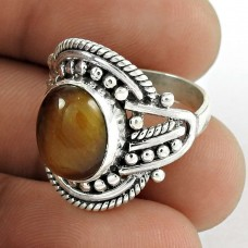 Gorgeous Design! 925 Silver Tiger Eye Ring