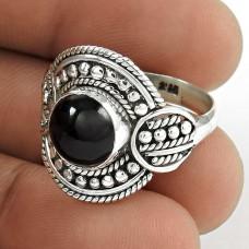 New Design! Sterling Silver Black Onyx Ring Mayorista