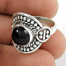 New Fashion! 925 Silver Black Onyx Ring Hersteller