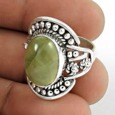 Gorgeous! 925 Silver Prehnite Ring