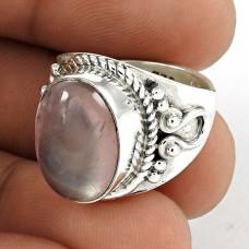 Fabulous! Sterling Silver Rose Quartz Ring
