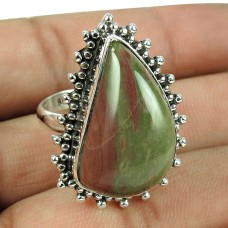 925 Sterling Silver Jewellery High Polish Jasper Gemstone Ring Manufacturer India