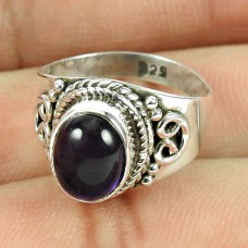 925 Sterling Silver Gemstone Jewellery Fashion Amethyst Gemstone Ring Wholesale