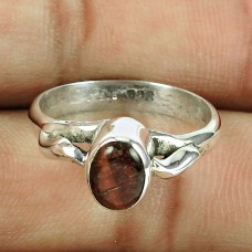 925 Sterling Silver Gemstone Jewellery Charming Iron Tiger Eye Gemstone Ring Exporter
