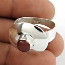 925 Sterling Silver Gemstone Jewellery Trendy Garnet Gemstone Ring Grossiste