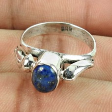 925 Sterling Silver Jewellery High Polish Lapis Gemstone Ring Großhandel