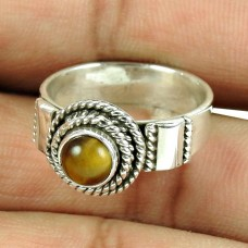 Handmade Sterling Silver Fashion Jewellery Rare Tiger Eye Gemstone Ring Manufacturer