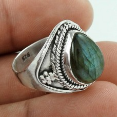 Indian Sterling Silver Jewellery Charming Labradorite Gemstone Ring Wholesale Price