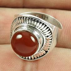Handmade Sterling Silver Jewellery Fashion Carnelian Gemstone Ring Grossiste