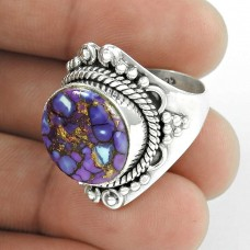 Kiss! 925 Silver Purple Copper Turquoise Ring Exporter India