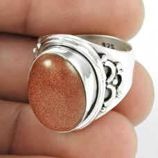 Spell!! 925 Sterling Silver Red Sunstone Ring