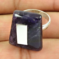 925 Sterling Silver Jewellery Charming Amethyst Gemstone Ring Manufacturer India