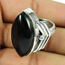 925 Sterling Silver Indian Jewellery Beautiful Black Onyx Gemstone Ring De gros