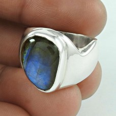 Misty Morning 925 Silver Labradorite Gemstone Ring