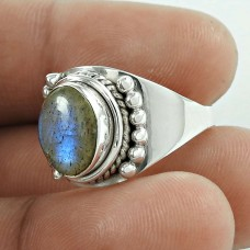 Stylish Design 925 Silver Labradorite Gemstone Ring Hersteller