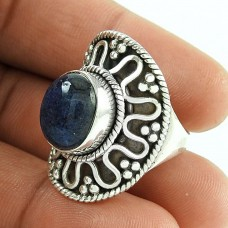 Fashion 925 Sterling Silver Labradorite Gemstone Ring Antique Jewelry