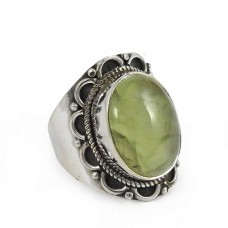 Charming !! 925 Sterling Silver Prehnite Ring Al por mayor
