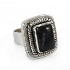 Chunky !! 925 Sterling Silver Labradorite Ring