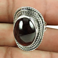 Trendy Garnet Gemstone Ring 925 Silver Jewellery
