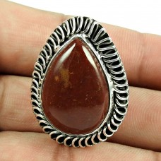 Charming Red Jasper Gemstone Ring 925 Sterling Silver Jewellery
