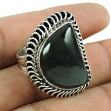 Fashion Picasso Jasper Gemstone Ring 925 Sterling Silver Fashion Jewellery