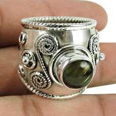 Rare Labradorite Gemstone Ring 925 Sterling Silver Fashion Jewellery