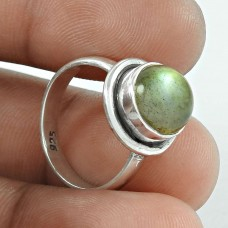 Designer 925 Sterling Silver Labradorite Gemstone Ring Traditional Jewelry