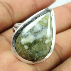 925 Sterling Silver Jewellery Fashion Ocean Jasper Gemstone Ring