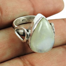 925 Sterling Silver Jewellery Engaging Rainbow Moonstone Ring