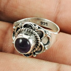 Sterling Silver Jewellery Scenic Amethyst Gemstone Ring