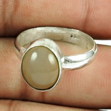 925 Sterling Silver Vintage Jewellery Dainty Moon Stone Ring