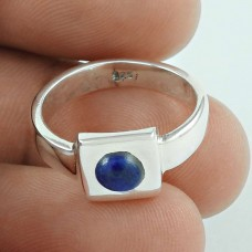 925 Sterling Silver Jewellery Pleasing Lapis Gemstone Ring