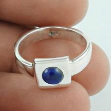 925 Sterling Silver Jewellery Pleasing Lapis Gemstone Ring