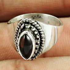 925 Sterling Silver Jewellery Amusable Smoky Quartz Gemstone Ring