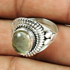 Indian Sterling Silver Jewellery Lovely Rutile Gemstone Ring