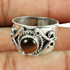 Handmade Sterling Silver Jewellery Graceful Tiger Eye Gemstone Ring