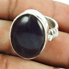 Designer 925 Sterling Silver Jewellery Seemly Amethyst Gemstone Ring
