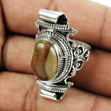Handy Mookaite Gemstone Sterling Silver Ring Sterling Silver Fashion Jewellery