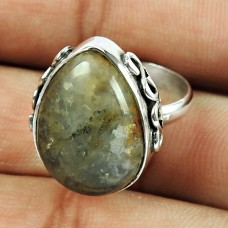 Fine 925 Sterling Silver Jewellery Graceful Rhyolite Gemstone Fashion Ring