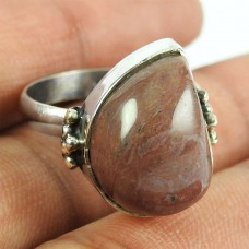 925 Sterling Silver Indian Jewellery Beautiful Rhodonite Gemstone Ring
