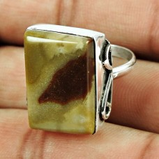 925 Sterling Silver Indian Jewellery Possessing Good Fortune Mookaite Gemstone Ring