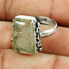 925 Sterling Silver Jewellery Engaging Rutile Gemstone Ring