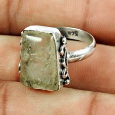 925 Sterling Silver Jewellery Engaging Rutile Gemstone Ring