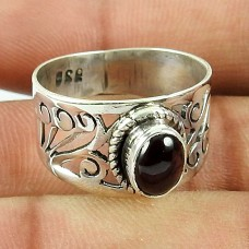 925 Sterling Silver Jewellery Scrumptious Garnet Gemstone Ring