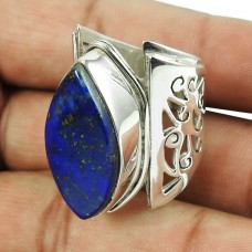 925 Sterling Silver Antique Jewellery Good-Looking Lapis Gemstone Ring