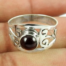 925 Sterling Silver Jewellery Personable Garnet Gemstone Fashion Ring